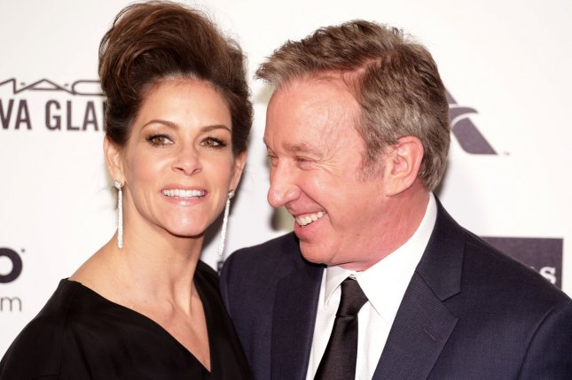Jane Hajduk and Tim Allen arrive for the Elton John AIDS Foundation Academy Awards Viewing Party in Los Angeles on February 22, 2015. File Photo by Jonathan Alcorn/UPI