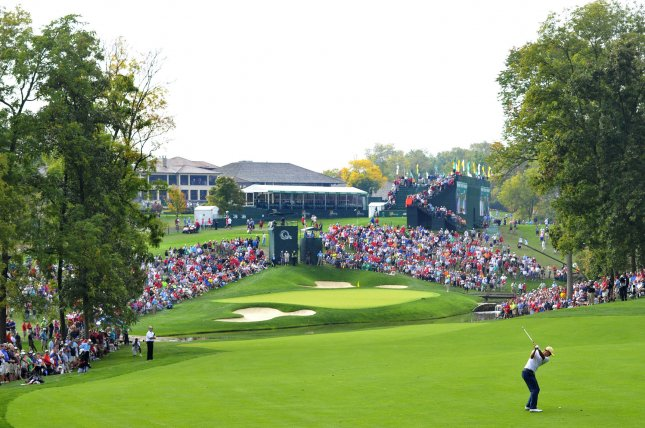 Muirfield Village Golf Club in Dublin, Ohio, will now host back-to-back tournaments as part of the PGA Tours resumed 2020 season. File Photo by Brian Kersey/UPI