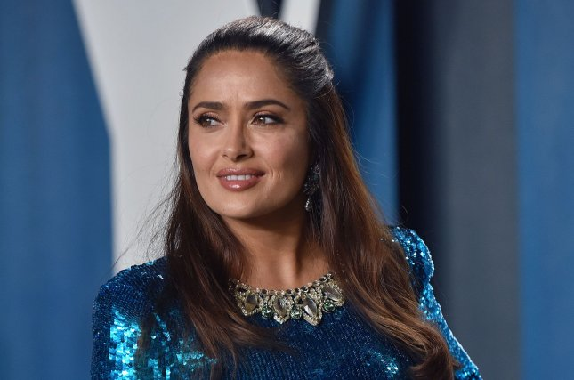 Salma Hayek discussed her role as Ajak in the upcoming Marvel film Eternals on Late Night with Seth Meyers. File Photo by Christine Chew/UPI