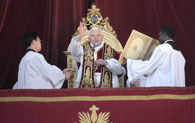 Pope Benedict XVI at St. Peter's Basilica in Vatican City, on Dec. 25, 2011. UPI/Stefano Spaziani
