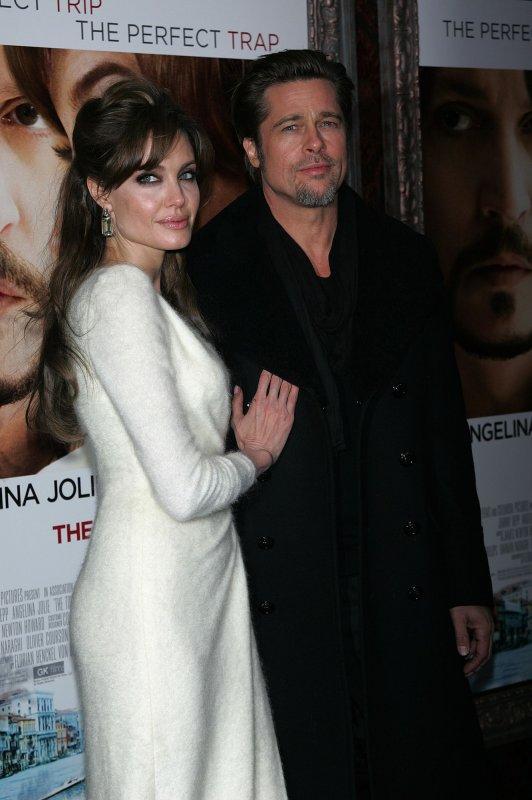 Brad Pitt Angelina Jolie arrive for The Tourist Premiere at the Ziegfeld Theater in New York on December 6, 2010. UPI /Laura Cavanaugh
