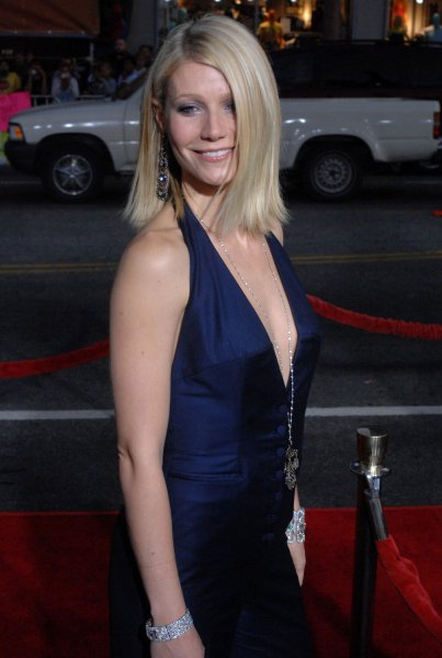 Gwyneth Paltrow, a cast member in the motion picture sci-fi thriller Iron Man, attends the Los Angeles premiere of the film at Grauman's Chinese Theatre in Hollywood on April 30, 2008. (UPI Photo/Jim Ruymen)