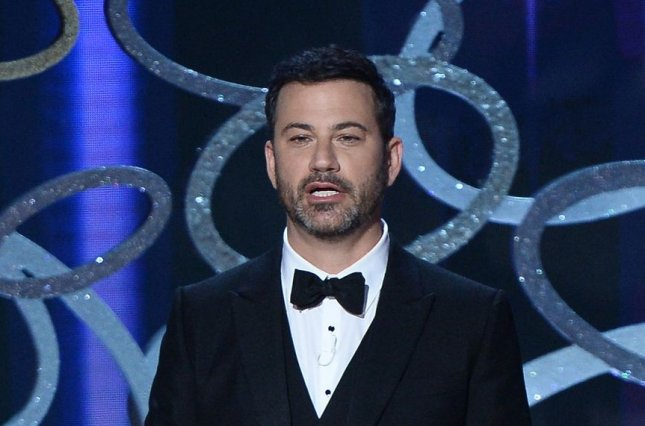 Host Jimmy Kimmel speaks onstage during the 68th annual Primetime Emmy Awards on September 18, 2016. Kimmel has a pep talk narrated to him by Morgan Freeman in a new ad for the Oscars. File Photo by Jim Ruymen/UPI