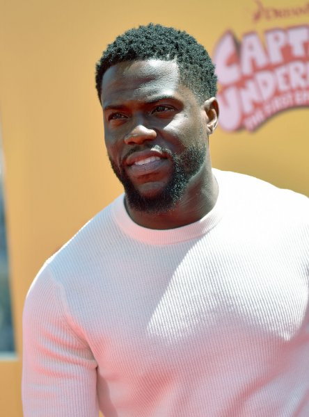 Kevin Hart arrives for the premiere of Captain Underpants: The First Epic Movie in Los Angeles on May 21. Hart has joined the lineup for Netflix's Def Comedy Jam 25 special. File Photo by Christine Chew/UPI