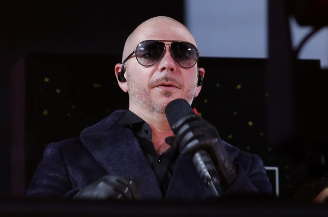 Pitbull performs in Times Square on New Year's Eve on December 31 in New York City. The singer turns 40 on January 15. Pool Photo by Gary Hershorn/UPI