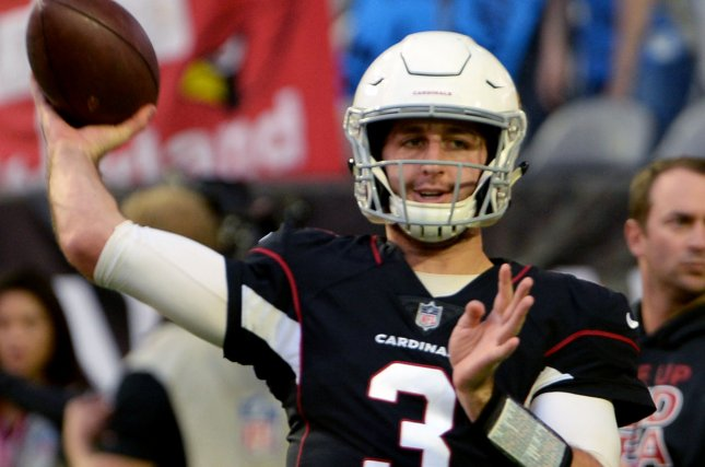 Former Arizona Cardinals quarterback Josh Rosen has completed 54.8% of his passes for 2,845 yards, 12 touchdowns and 19 interceptions in 20 career games with the Cardinals and Dolphins. File Photo by Art Foxall/UPI