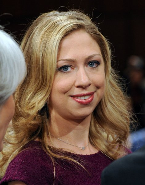 Chelsea Clinton waits for her mother Sen. Hillary Rodham Clinton, D-NY, to testify before the Senate Foreign Relations Committee regarding her nomination by President-elect Barack Obama to be Secretary of State on Capitol Hill in Washington on January 13, 2009. (UPI Photo/Roger L. Wollenberg)