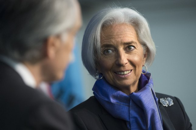 Christine Lagarde, Managing Director or the International Monetary Fund (IMF), will be involved in the greek bailout, German Chancellor angela Merkel said. File Photo:UPI/Kevin Dietsch