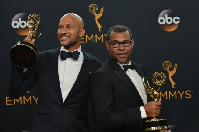 Keegan-Michael Key (L) and Jordan Peele are set to voice characters in Disney and Pixar's Toy Story 4. File Photo by Christine Chew/UPI
