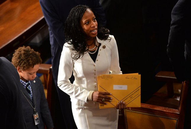 Republican Rep. Mia Love is expected to hold a press conference Monday after losing her seat to Democrat Ben McAdams. Photo by Kevin Dietsch/UPI