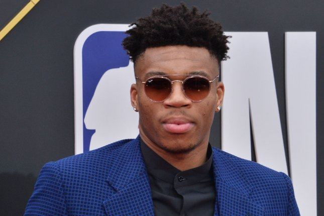 Milwaukee Bucks forward Giannis Antetokounmpo won the 2018-2019 NBA MVP award after averaging 27.7 points, 12.5 rebounds and 5.9 assists per game last season. File Photo by Jim Ruymen/UPI