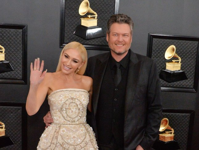 Gwen Stefani (L) and Blake Shelton are set to take part in NBC's next Red Nose Day fundraiser. File Photo by Jim Ruymen/UPI