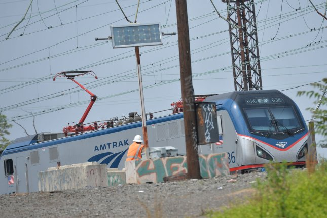 An Amtrak Acela train is pictured in Philadelphia, Pa., on May 18, 2015. Amtrak said it's planning to resume Acela service in the Northeast beginning in June. File Photo by Kevin Dietsch/UPI