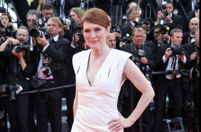 Bel Canto leading lady Julianne Moore is seen here arriving at the screening of Money Monster at the 69th annual Cannes International Film Festival on May 12, 2016. File Photo by David Silpa/UPI
