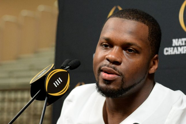 Former Alabama linebacker Reggie Ragland talks to the media at Media Day for the College Football Playoff National Championship at the Phoenix Convention Center in Phoenix, Arizona, January 9, 2016. File photo by Art Foxall/UPI