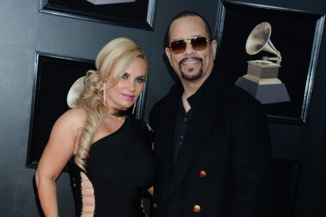 Coco Austin (L), pictured with Ice-T, shared a picture from her family's trip to an exotic car show. File Photo by Dennis Van Tine/UPI