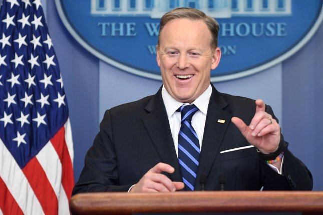 Former White House Press Secretary Sean Spicer got the boot on Dancing with the Stars on Monday. File Photo by Pat Benic/UPI