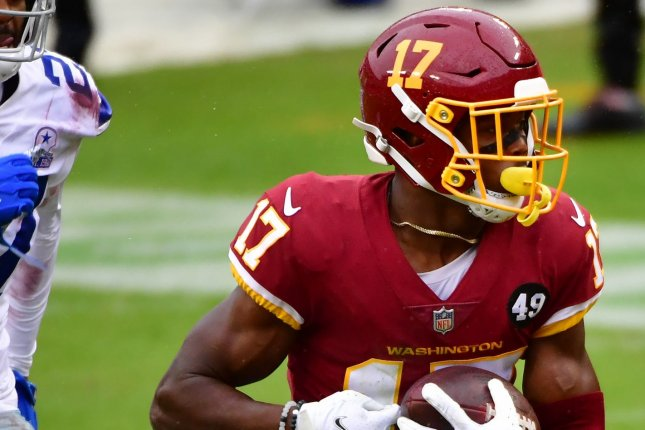 Washington Football Team wide receiver Terry McLaurin is my No. 2 option for Week 10. File Photo by David Tulis/UPI