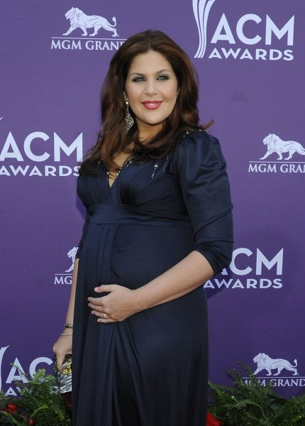 Hillary Scott of Lady Antebellum arrives at the 48th annual Academy of Country Music Awards at the MGM Hotel in Las Vegas, Nevada on April 7, 2013. UPI/David Becker