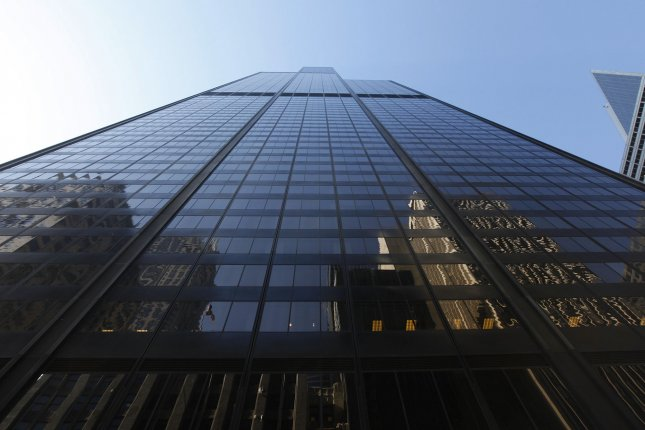 The 110-story Willis Tower rises above the street in Chicago on July 16, 2009. (File/UPI Photo/Brian Kersey)
