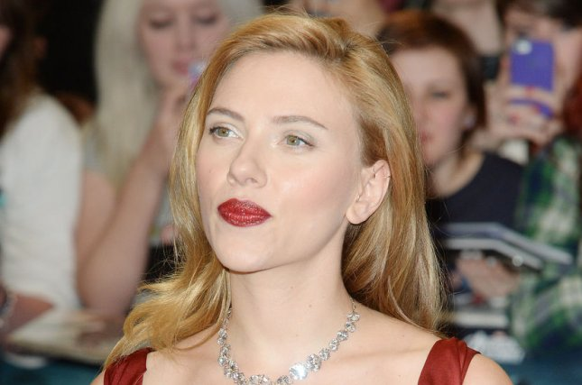 American actress Scarlett Johansson attends the premiere of Captain America: The Winter Soldier at Westfield in London on March 20, 2014. UPI/ Rune Hellestad