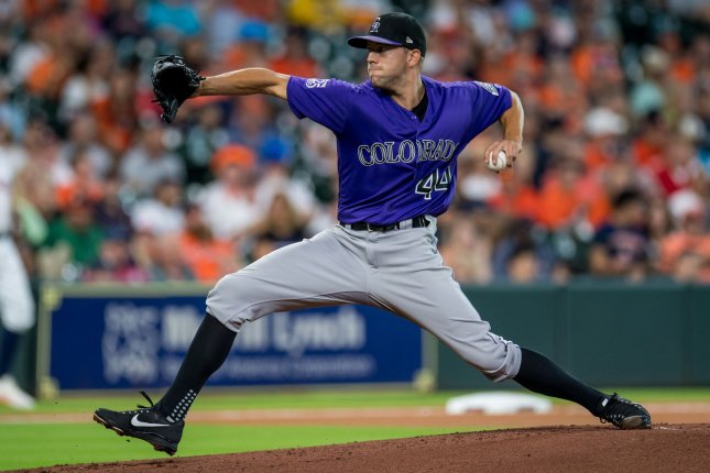 Tyler Anderson and the Colorado Rockies take on the San Francisco Giants on Friday. Photo by Trask Smith/UPI