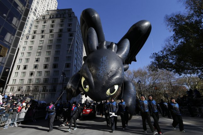 Helium used in balloons such as floats at holiday parades could be threatened by a worldwide helium shortage. Party City, known for its birthday balloons, announced Thursday it was closing 45 stores. File photo by John Angelillo/UPI