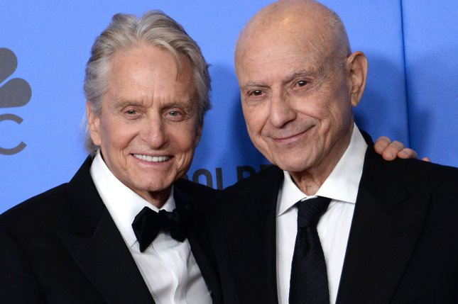 Michael Douglas (L) and Alan Arkin are returning for a third and final season of The Kominsky Method. File Photo by Jim Ruymen/UPI