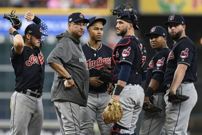In 2018, Cleveland announced it was dropping its former mascot and team logo, a cartoon image known as Chief Wahoo, after MLB said it was inappropriate. File Photo by Trask Smith/UPI