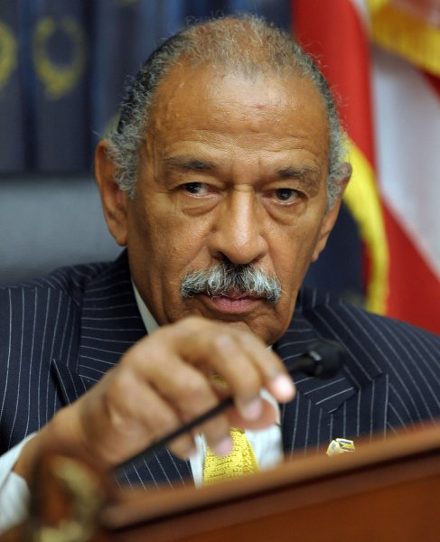 U.S. Rep. John Conyers, D-Mich., on Capitol Hill in Washington, May 14, 2009. (UPI Photo/Roger L. Wollenberg)