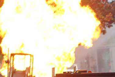 U.S. energy industry addresses risks of flash fires at drilling sites. UPI/Bill Greenblatt