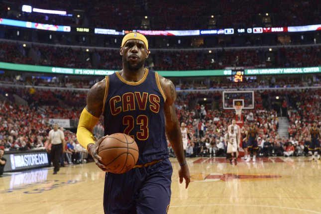 LeBron James scored a season-high 44 points and became the first frontcourt player to pass for 7,000 assists as the Cleveland Cavaliers recorded a 116-105 win over the Charlotte Hornets on Saturday. File Photo by Brian Kersey/UPI