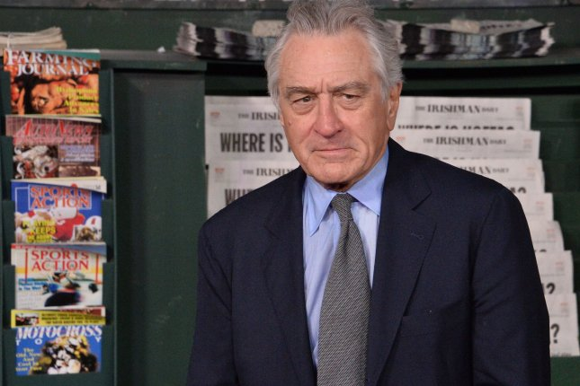 Film star Robert De Niro has been chosen to receive the 2019 Screen Actors Guild Life Achievement Award this winter. File Photo by Jim Ruymen/UPI
