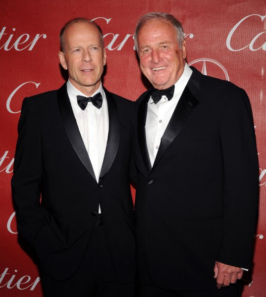 Actor Bruce Willis (L) and producer Jerry Weintraub attend the 19th annual Palm Springs International Film Festival Awards Gala in Palm Springs, California on January 5, 2008. (UPI Photo/Jim Ruymen).