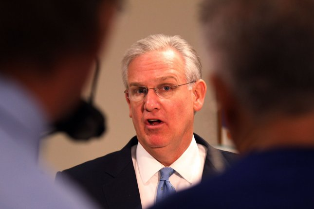 Missouri Governor Jay Nixon talks to reporters in St. Charles, Missouri about Joseph Paul Franklin, the white supremacist serial killer that was put to death in Missouri on November 20, 2013. Franklin is the stateÕs first execution in nearly three years. UPI/Bill Greenblatt