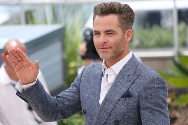 Chris Pine arrives at a photocall for the film Hell Or High Water during the 69th annual Cannes International Film Festival in Cannes, France on May 16, 2016. Pine recently competed against Jimmy Fallon in a game of Inflatable Flip Cup on The Tonight Show. File Photo by David Silpa/UPI