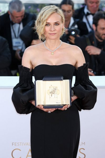 Diane Kruger attends a photocall after winning Best Actress for In the Fade at the Cannes International Film Festival on Sunday. Photo by David Silpa/UPI