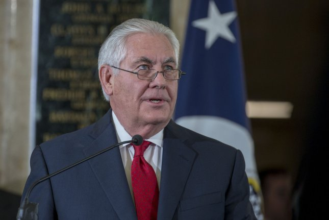 Former Secretary of State Rex Tillerson warned military graduates Wednesday of a growing ethics and integrity crisis among U.S. leaders. File photo by Tasos Katopodis/UPI