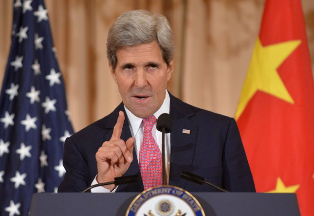 Secretary of State John Kerry delivers remarks during the closing plenary session of the fourth annual U.S.-China Consultation on People-to-People Exchange, at the State Department in Washington, D.C. on November 21, 2013. UPI/Kevin Dietsch