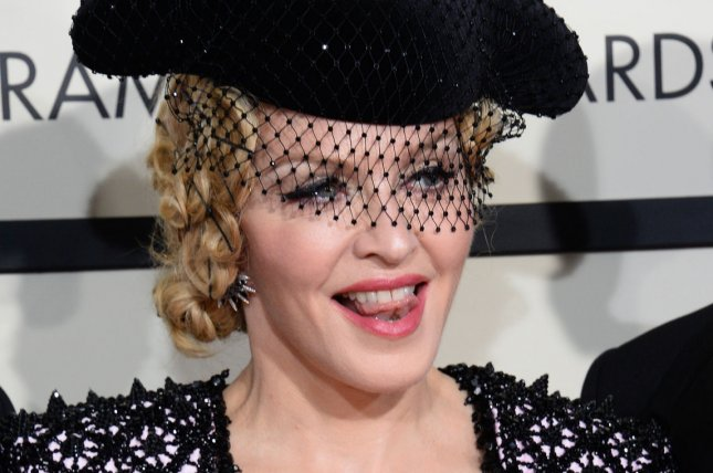 Madonna, seen here at the Grammy Awards in February, has earned over $46 million on her Rebel Heart world tour in two months since its debut in Canada. File Photo by Jim Ruymen/UPI