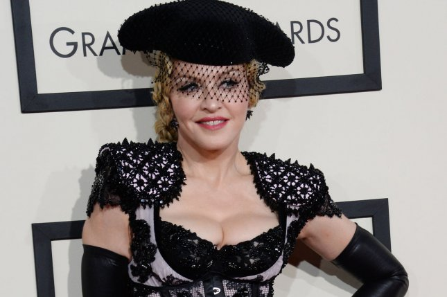 Madonna at the Grammy Awards on Feb. 8. File Photo by Jim Ruymen/UPI