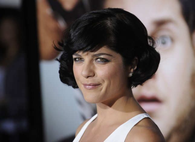 Actress Selma Blair attends the premiere of the film Get Him to the Greek at the Greek Theatre in Los Angeles in 2010. She apologized this week for a recent outburst on a plane after she said she made a mistake mixing alcohol and medication. File Photo by Phil McCarten/UPI