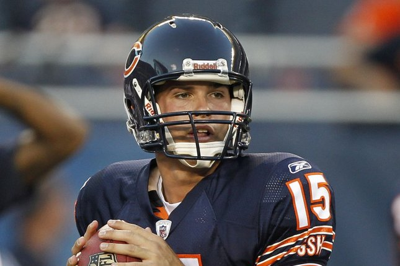 Former Chicago Bears quarterback Dan LeFevour. UPI/Brian Kersey