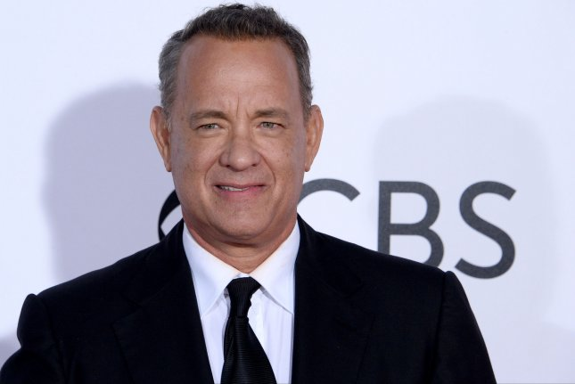 Actor Tom Hanks attends the 43rd annual People's Choice Awards in Los Angeles on January 18. Hanks is to be a presenter at the Creative Arts Emmys. File Photo by Jim Ruymen/UPI