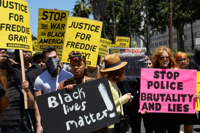 The DOJ has decided not to pursue civil rights charges against the Baltimore police officers involved in the death of Freddie Gray. Photo by Jim Ruymen/UPI