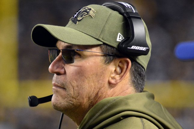 Washington Football Team coach Ron Rivera announced a skin cancer diagnosis on Thursday, but plans to keep his normal schedule for the 2020 season. File Photo by Archie Carpenter/UPI