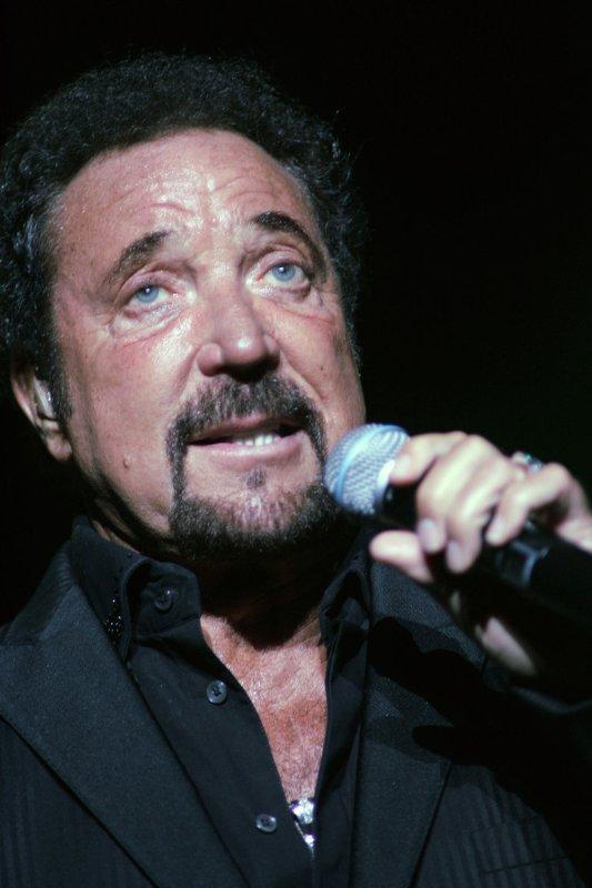 Tom Jones performs in concert at the Bank Atlantic Center in Sunrise, Florida on April 13, 2007. (UPI Photo/Michael Bush/File)