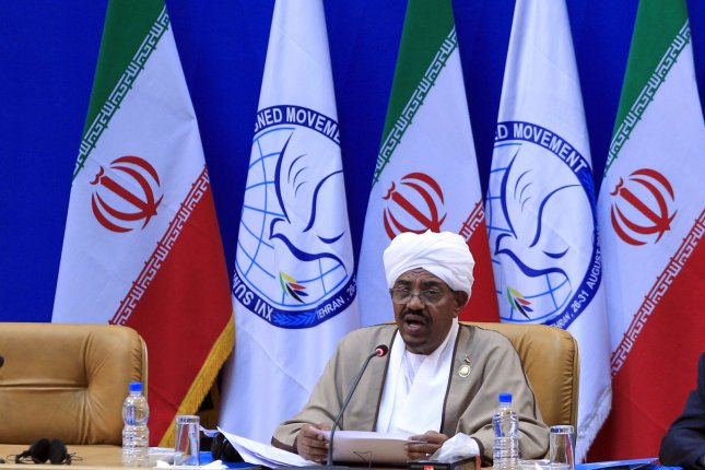 Sudanese President Omar Al-Bashir delivers speaks during the 16th summit of the Non-Aligned Movement (NAM) in Tehran, Iran on August 31, 2012. UPI/Maryam Rahmanian