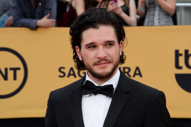 Actor Kit Harington arrives for the 21st annual SAG Awards held at the Shrine Auditorium in Los Angeles on January 25, 2015. He and fellow Game of Thrones actor Rose Leslie are engaged. File Photo by Jim Ruymen/UPI