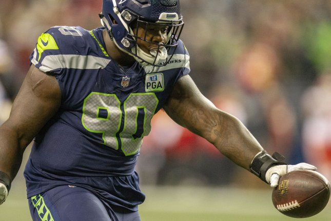 Defensive tackle Jarran Reed (pictured) will line up alongside former Seattle Seahawks teammate Frank Clark on the Kansas City Chiefs' defensive line in 2021. File Photo by Jim Bryant/UPI